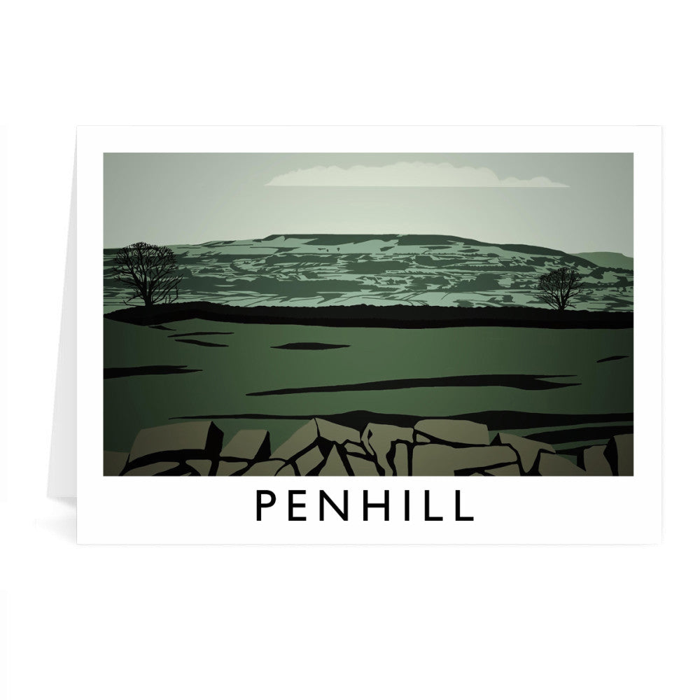Penhill, Yorkshire Greeting Card 7x5