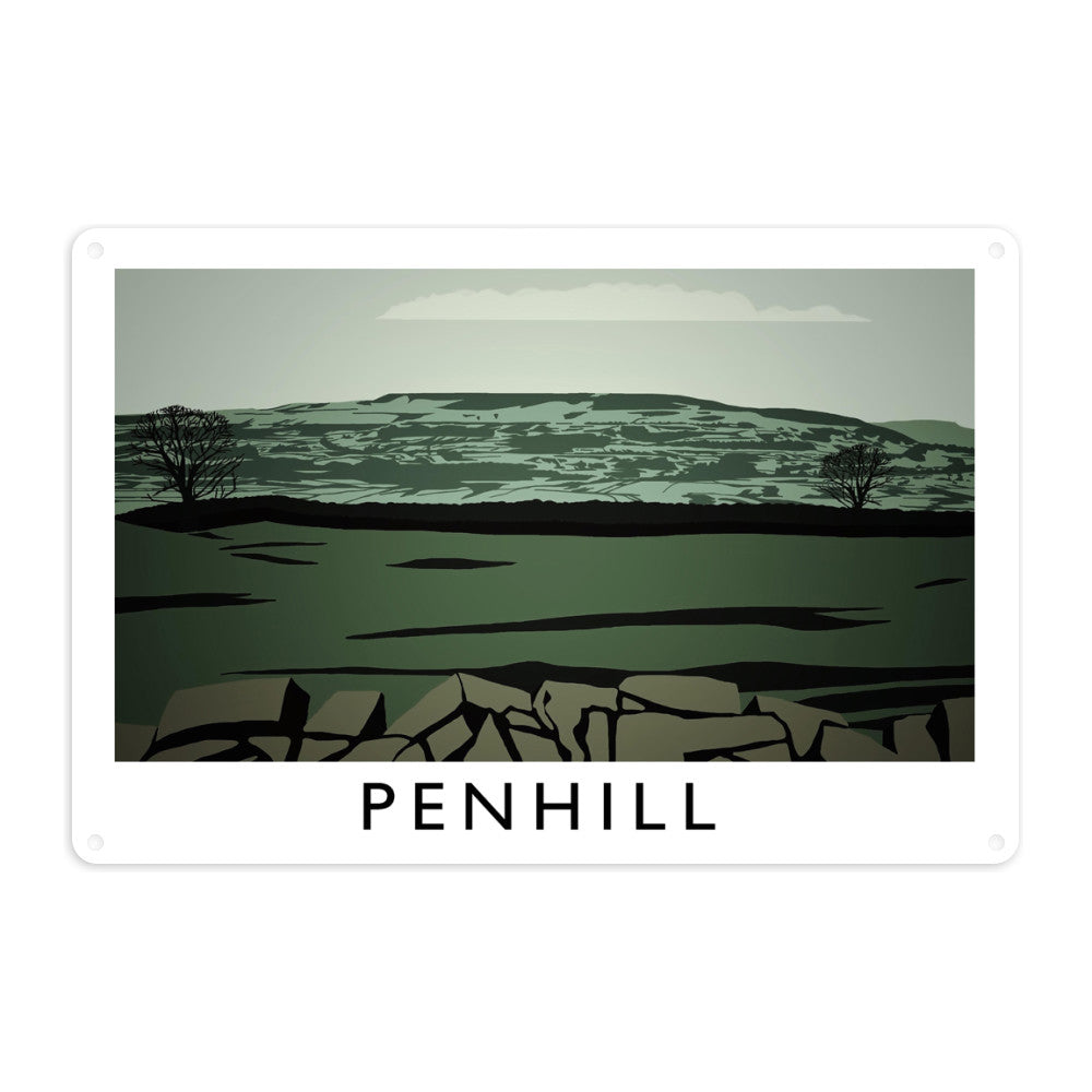 Penhill, Yorkshire Metal Sign