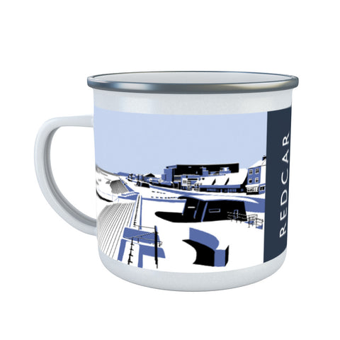Redcar, North Yorkshire Enamel Mug