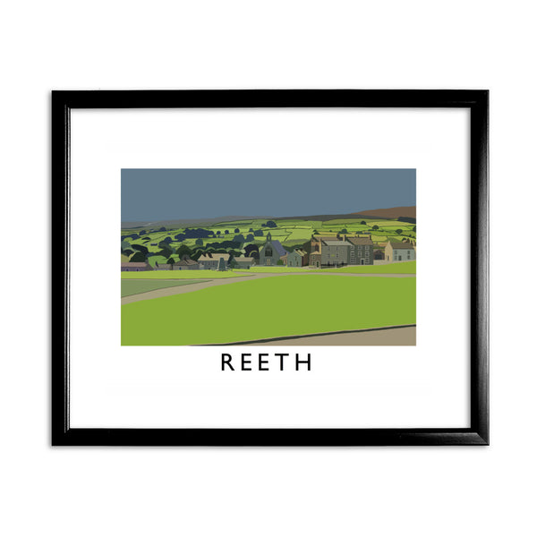 Reeth, Yorkshire 11x14 Framed Print (Black)