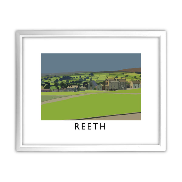 Reeth, Yorkshire 11x14 Framed Print (White)