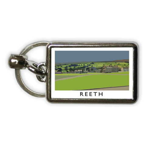 Reeth, Yorkshire Metal Keyring