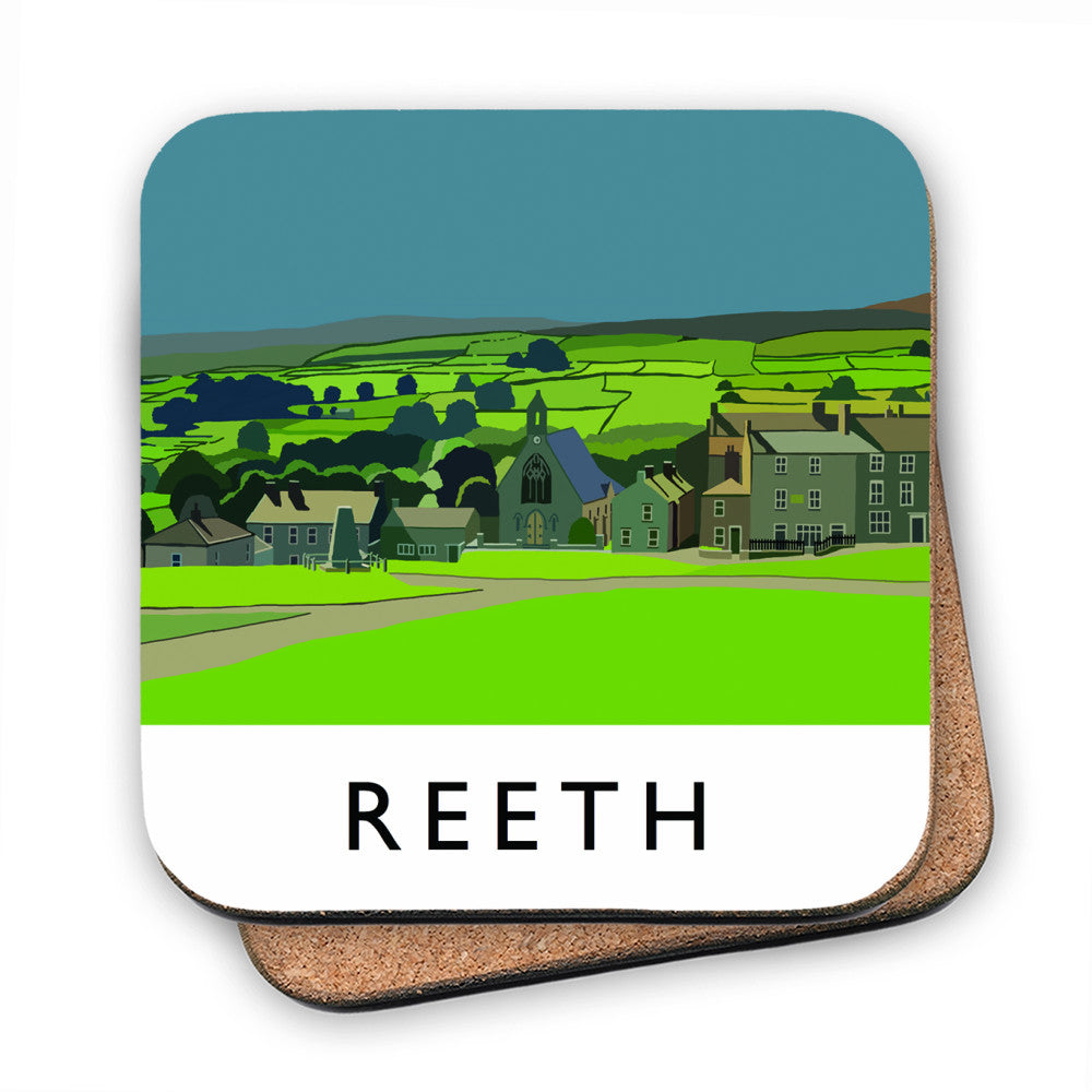 Reeth, Yorkshire MDF Coaster