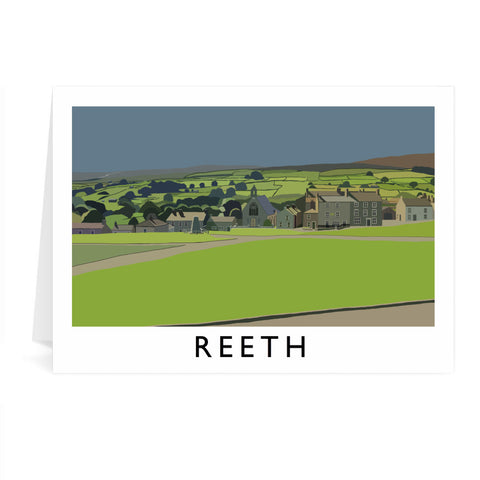 Reeth, Yorkshire Greeting Card 7x5