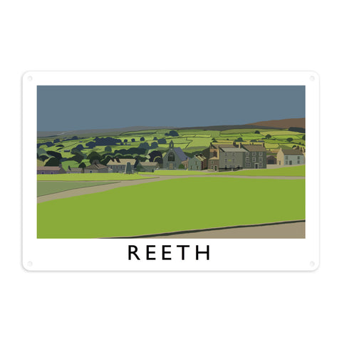 Reeth, Yorkshire Metal Sign