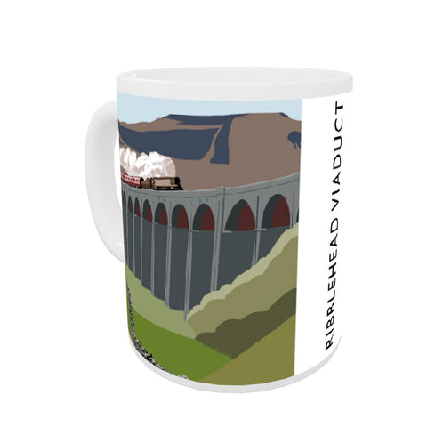 The Ribblehead Viaduct, Yorkshire Coloured Insert Mug