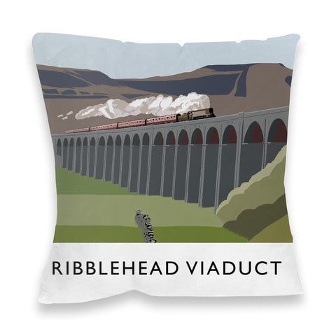 The Ribblehead Viaduct, Yorkshire Fibre Filled Cushion
