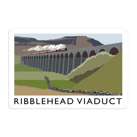 The Ribblehead Viaduct, Yorkshire Metal Sign