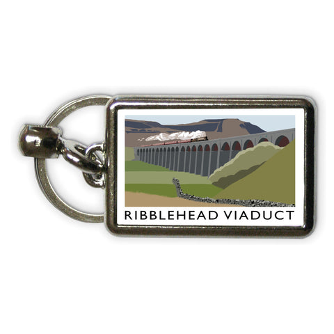The Ribblehead Viaduct, Yorkshire Metal Keyring