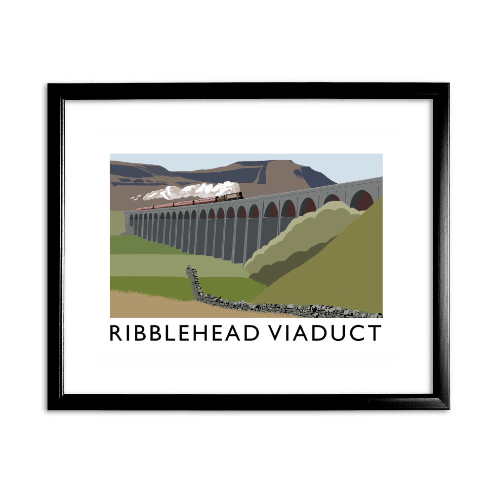 The Ribblehead Viaduct, Yorkshire 11x14 Framed Print (Black)