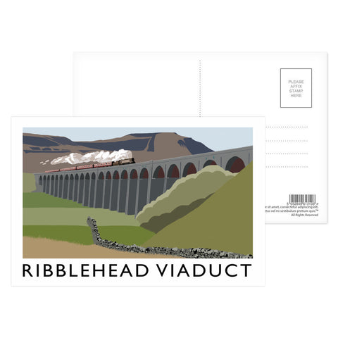 The Ribblehead Viaduct, Yorkshire Postcard Pack