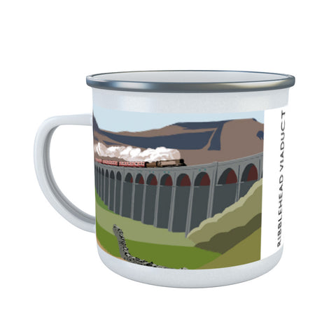 The Ribblehead Viaduct, Yorkshire Enamel Mug