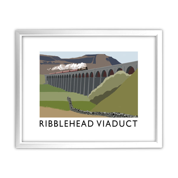 The Ribblehead Viaduct, Yorkshire 11x14 Framed Print (White)