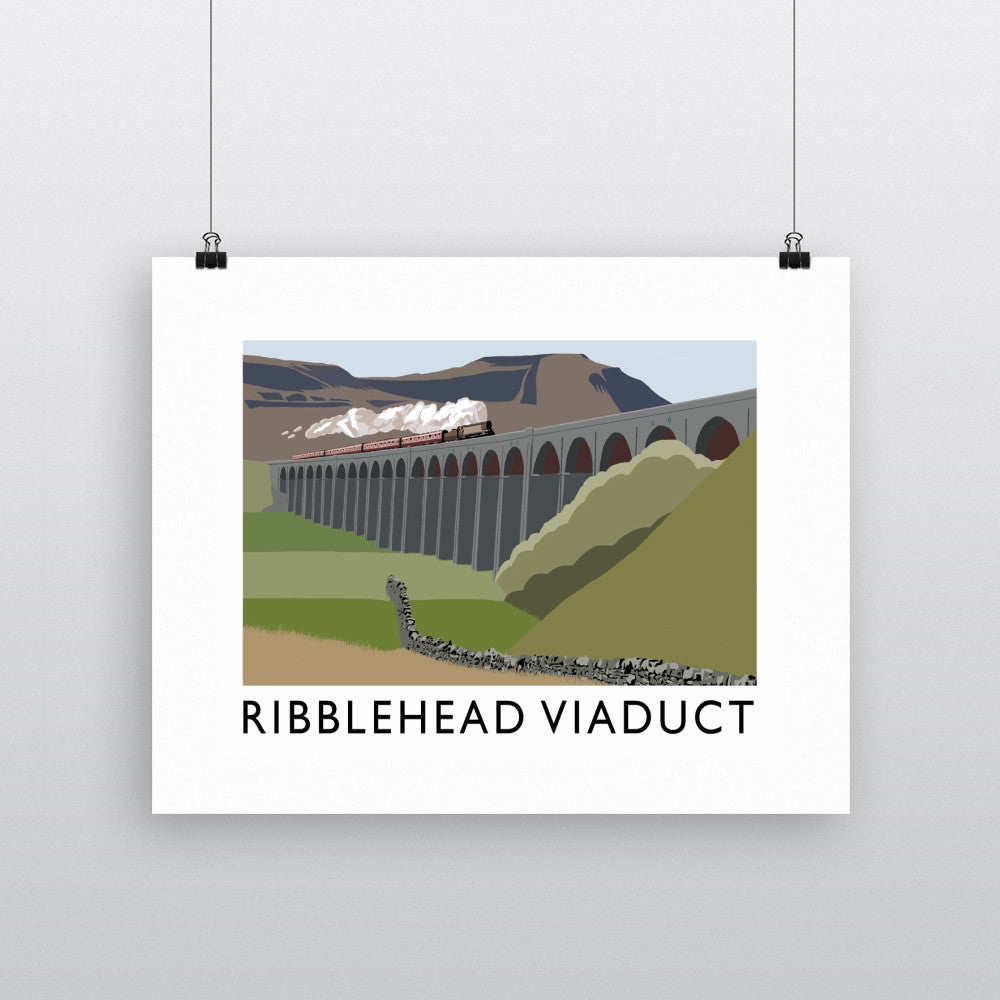 The Ribblehead Viaduct, Yorkshire Fine Art Print