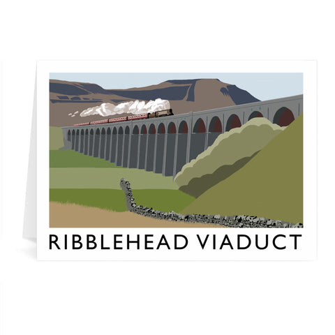 The Ribblehead Viaduct, Yorkshire Greeting Card 7x5