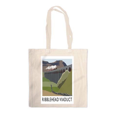 The Ribblehead Viaduct, Yorkshire Canvas Tote Bag