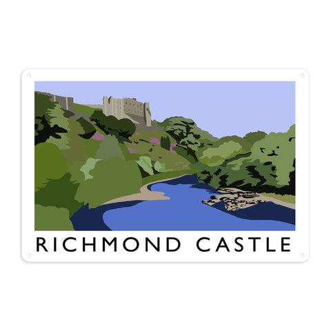 Richmond Castle, Yorkshire Metal Sign