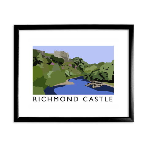 Richmond Castle, Yorkshire 11x14 Framed Print (Black)