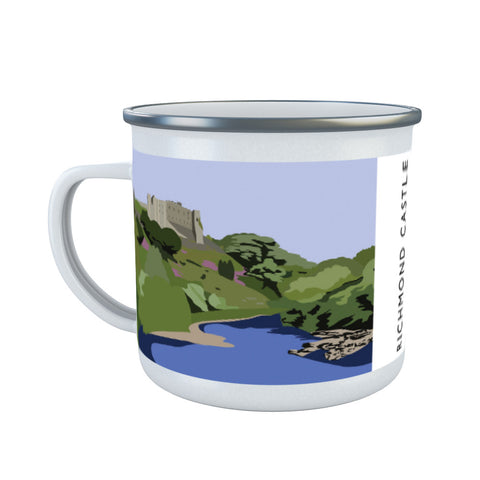 Richmond Castle, Yorkshire Enamel Mug