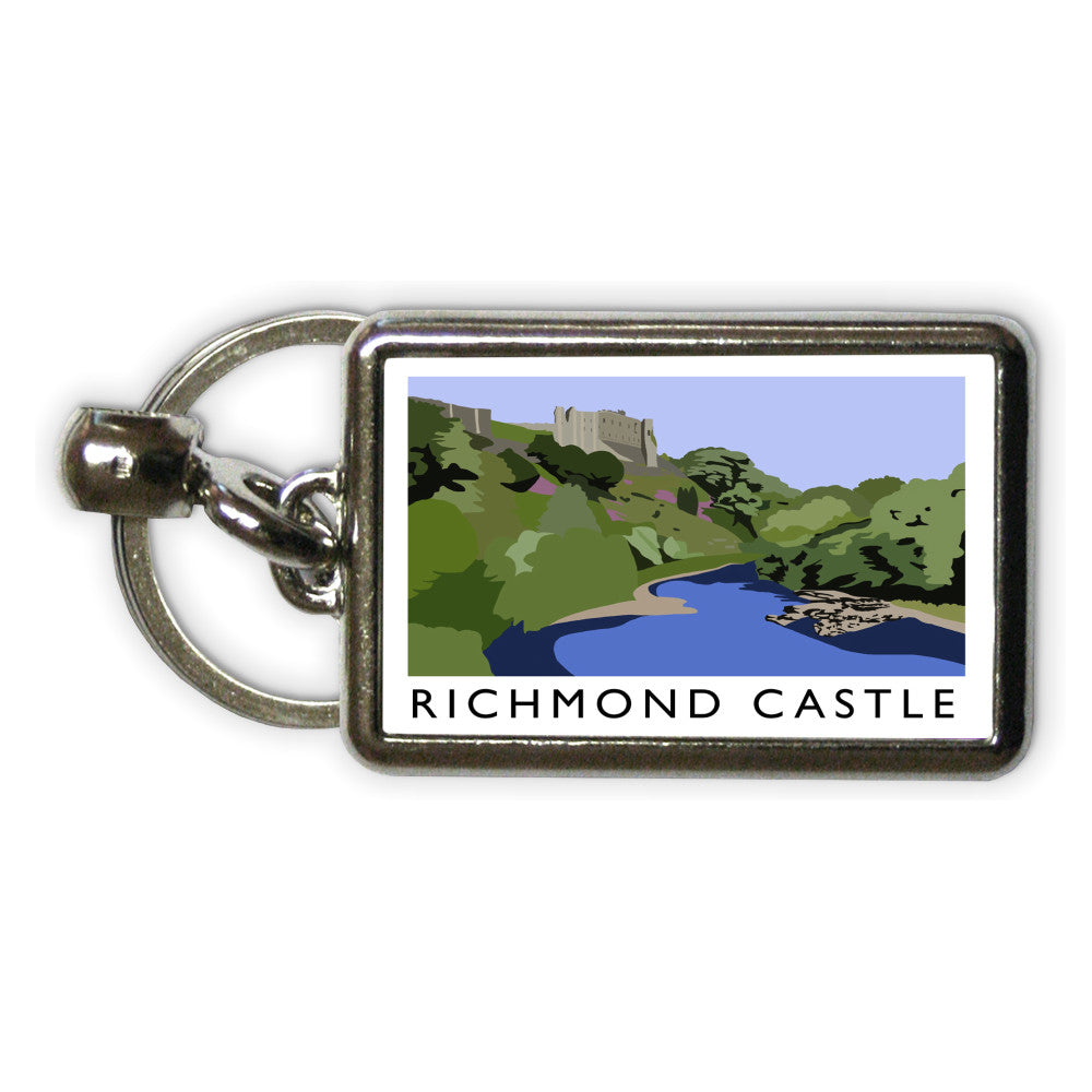 Richmond Castle, Yorkshire Metal Keyring