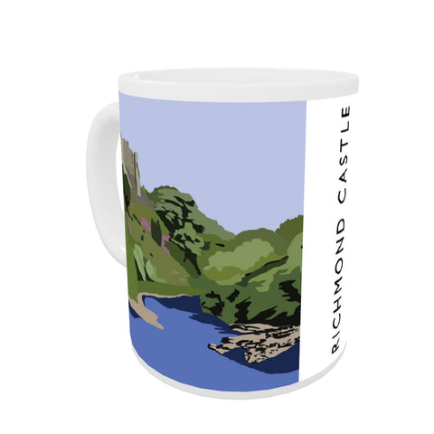 Richmond Castle, Yorkshire Coloured Insert Mug