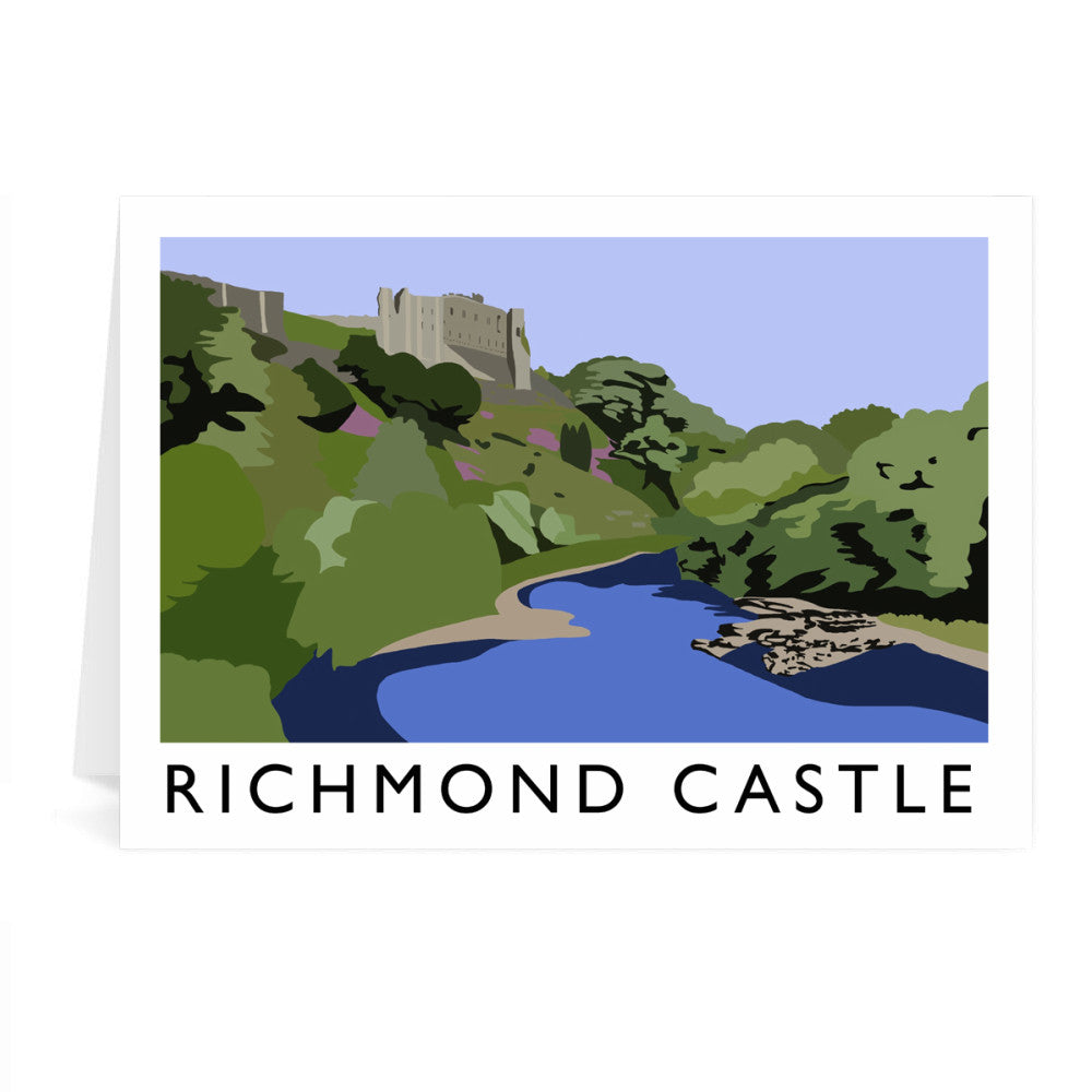 Richmond Castle, Yorkshire Greeting Card 7x5