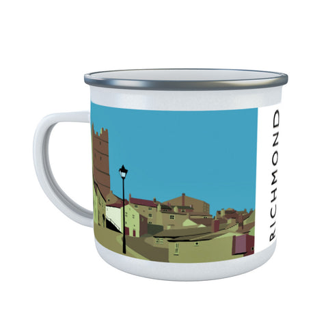 Richmond, Yorkshire Enamel Mug