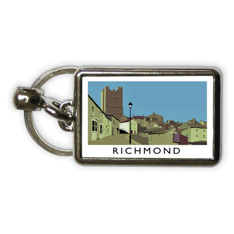 Richmond, Yorkshire Metal Keyring