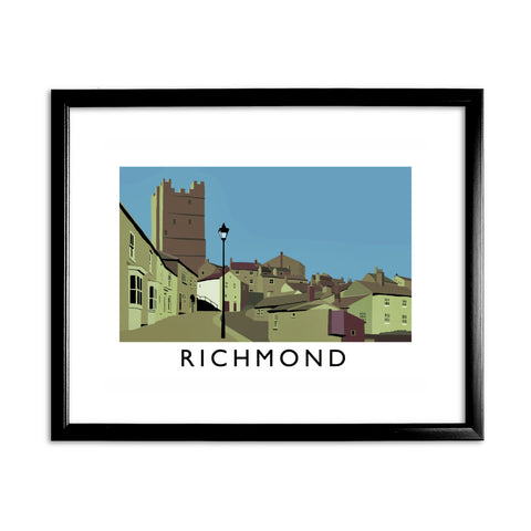 Richmond, Yorkshire 11x14 Framed Print (Black)
