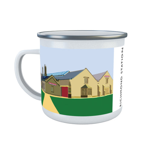 Richmond Station, Yorkshire Enamel Mug