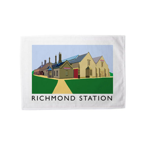 Richmond Station, Yorkshire Tea Towel