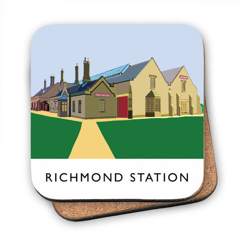 Richmond Station, Yorkshire MDF Coaster