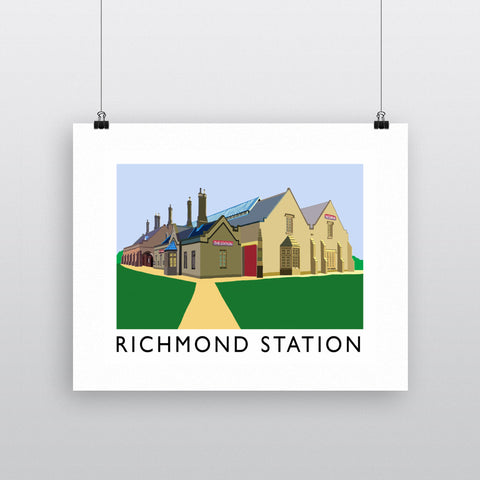 Richmond Station, Yorkshire Fine Art Print