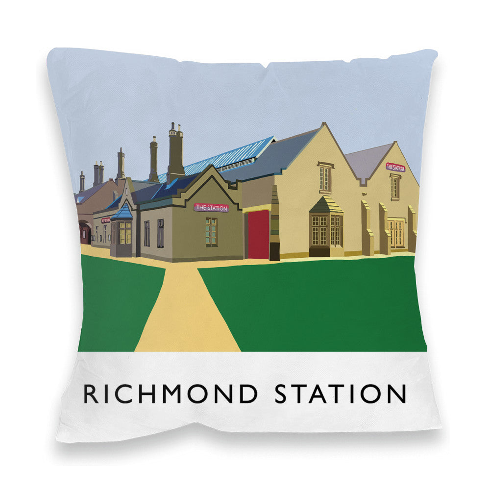Richmond Station, Yorkshire Fibre Filled Cushion