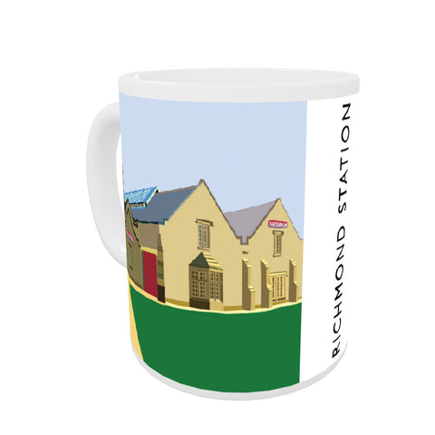 Richmond Station, Yorkshire Coloured Insert Mug