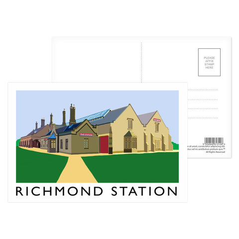 Richmond Station, Yorkshire Postcard Pack