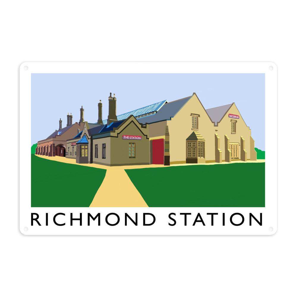 Richmond Station, Yorkshire Metal Sign