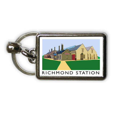 Richmond Station, Yorkshire Metal Keyring