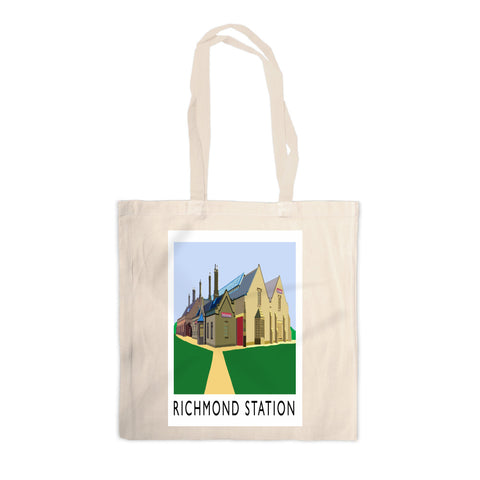 Richmond Station, Yorkshire Canvas Tote Bag