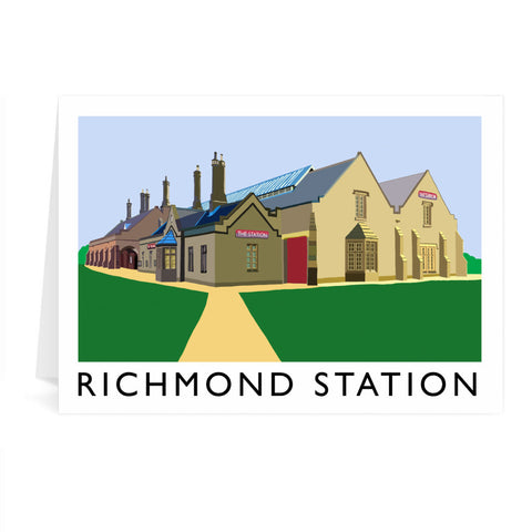 Richmond Station, Yorkshire Greeting Card 7x5