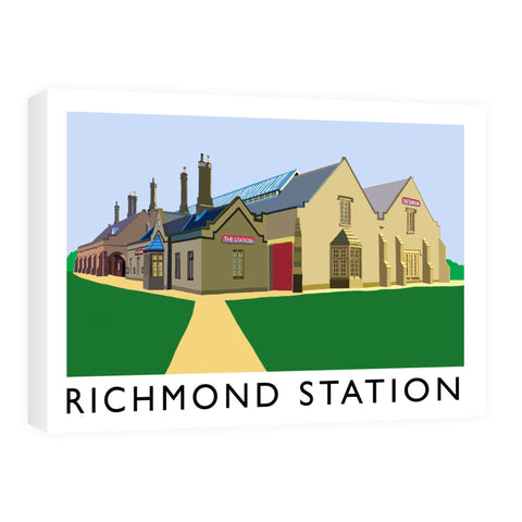 Richmond Station, Yorkshire Canvas