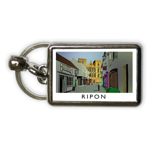 Ripon, Yorkshire Metal Keyring