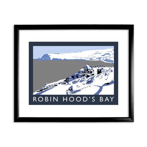 Robin Hoods Bay, Yorkshire 11x14 Framed Print (Black)