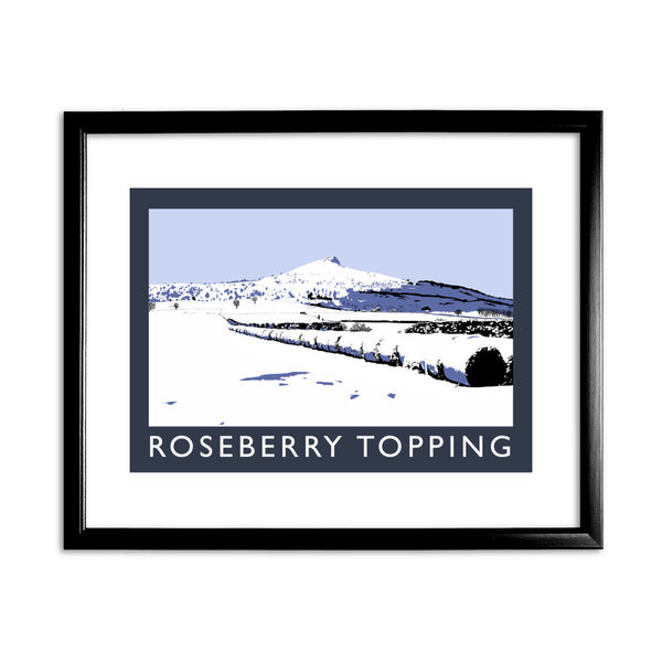 Roseberry Topping, Yorkshire 11x14 Framed Print (Black)