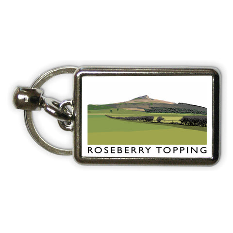 Roseberry Topping, Yorkshire Metal Keyring