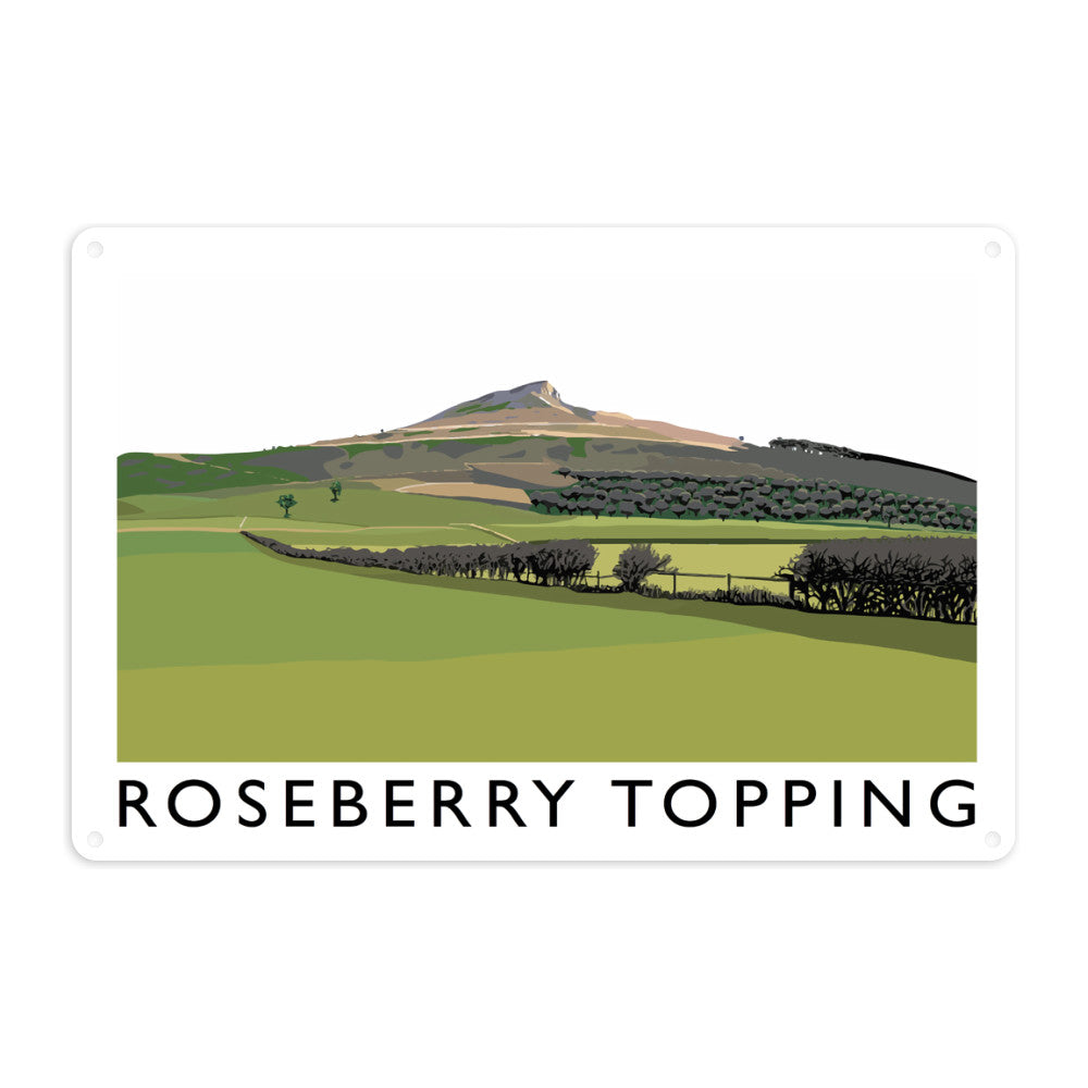 Roseberry Topping, Yorkshire Metal Sign