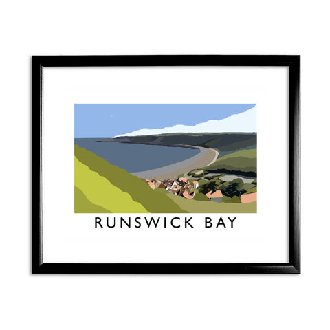 Runswick Bay, Yorkshire 11x14 Framed Print (Black)