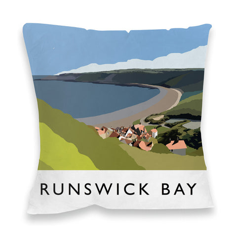 Runswick Bay, Yorkshire Fibre Filled Cushion
