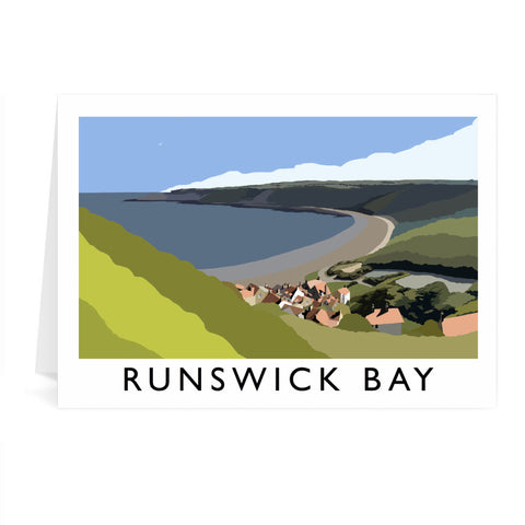 Runswick Bay, Yorkshire Greeting Card 7x5