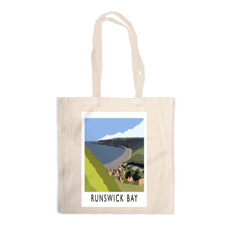 Runswick Bay, Yorkshire Canvas Tote Bag